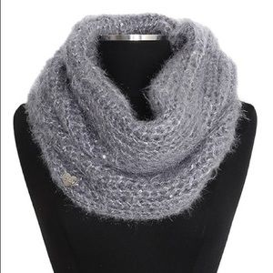 Betsey Johnson Charm Silver Fuzzy Wuzzy Snood